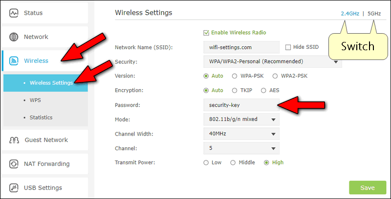 network security key tp-link