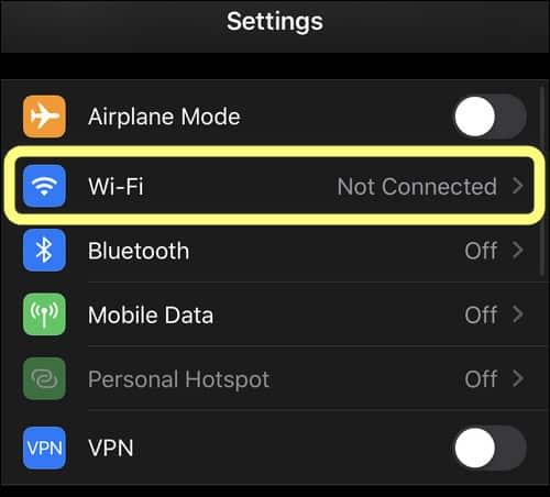 Wi-Fi Settings iPhone iOS 13