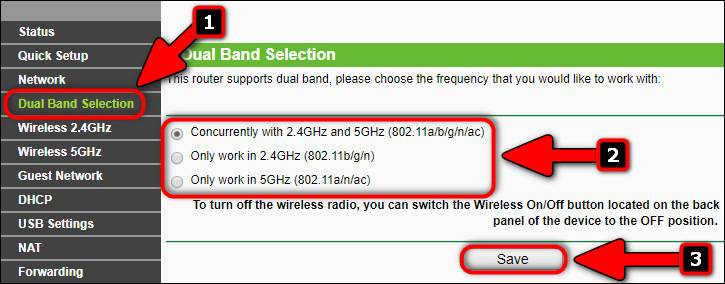Enable 5 GHz band on TP-Link Wi-Fi Router