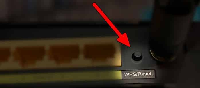 Reset TP-Link router hardware button