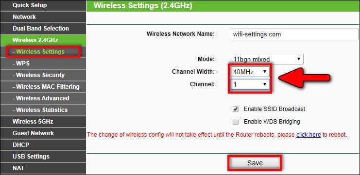 wireless channel & channel width