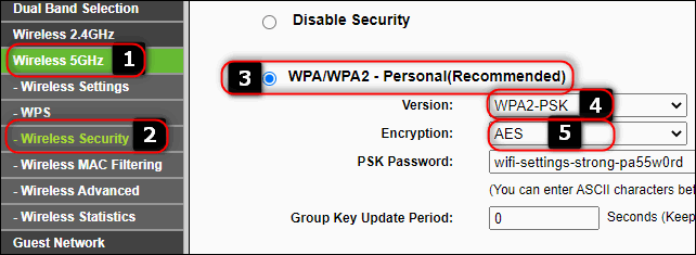 WPA2-PSK+AES on old TP-Link Router