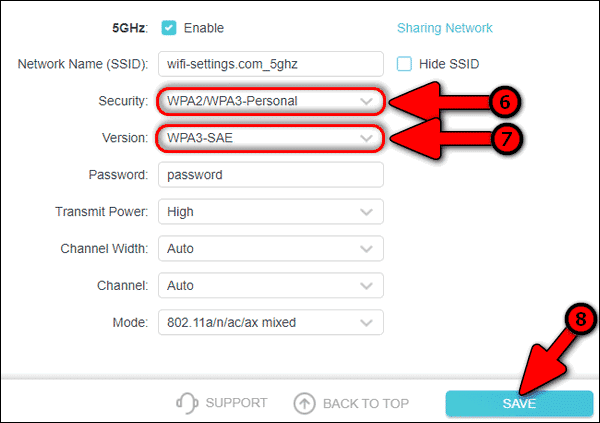 configure WPA3 only for 5 GHz Network on TP-Link router